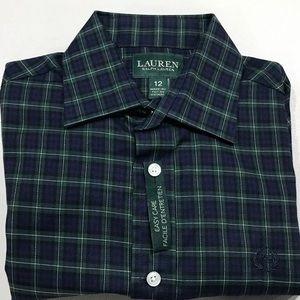 Lauren Ralph Lauren Boy Button Shirts size 12